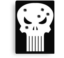 COMIC BOOK PUNISHER STYLE SKULL MILITARY Canvas Print
