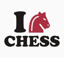 I love Chess horse Baby Tee