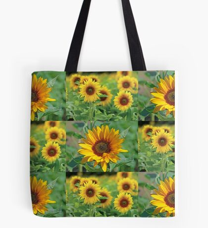 Sunflowers on a Field Tote Bag