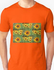 Sunflowers on a Field Unisex T-Shirt