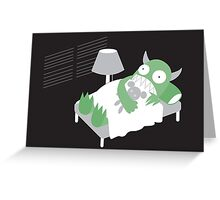 Afraid Of Monsters Greeting Card