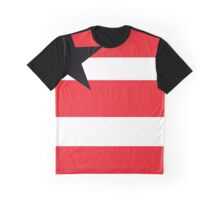 Red Black and White simple flag design Graphic T-Shirt
