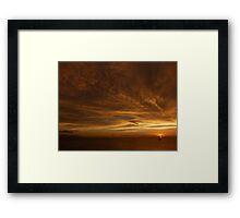 clouds - nubes Framed Print