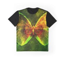 Space Butterfly Graphic T-Shirt