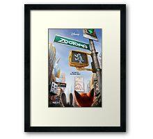 Movie Poster (Zootopia) Framed Print