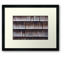 Wooden Lapped Shingles Texture Framed Print