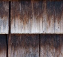 Wooden Lapped Shingles Texture Sticker