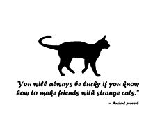 Ancient Cat Proverb by Susan S. Kline