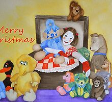 Merry Christmas from a Mime & toys by Baina Masquelier