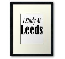 I study at Leeds Framed Print