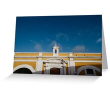Yellow Fort Greeting Card