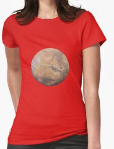 Mars Drawing Womens Fitted T-Shirt