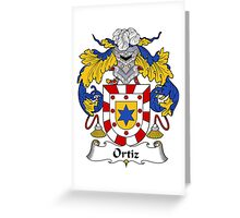 Ortiz Coat of Arms/Family Crest Greeting Card
