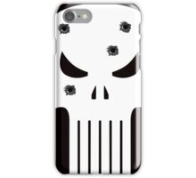 COMIC BOOK PUNISHER STYLE SKULL MILITARY iPhone Case/Skin