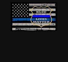 Thin Blue Line Flag POLICE COPS OFFICER All LIVES MATTER  Unisex T-Shirt