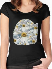 marguerites, daisy Women's Fitted Scoop T-Shirt