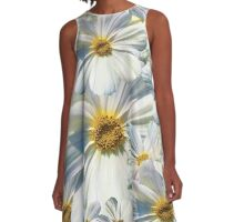 marguerites, daisy A-Line Dress