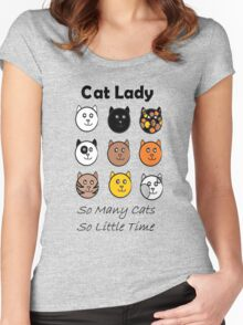 Cat Lady Women's Fitted Scoop T-Shirt