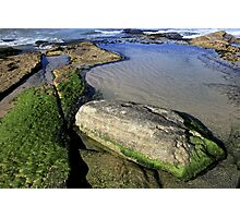 Mossy Rocks, Maroubra, NSW Photographic Print