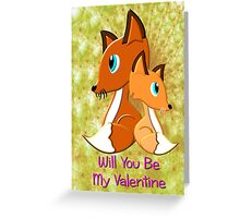 A Foxy Be My Valentine Card Greeting Card