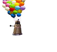 dalek with balloons  by sherlokian