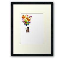 dalek with balloons  Framed Print