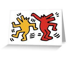 Keith Haring Dancing Dog Greeting Card