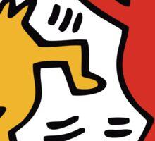 Keith Haring Dancing Dog Sticker