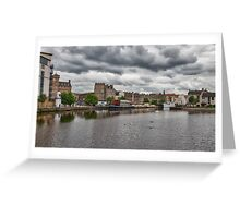 The Shores in Leith, Edinburgh Greeting Card