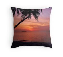Coconut on Sunset Throw Pillow