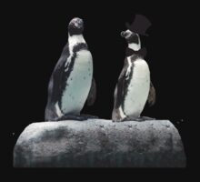 Penguin with a Top Hat with Bow Tie Baby Tee