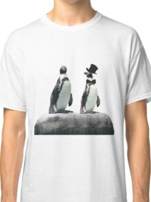 Penguin with a Top Hat with Bow Tie Classic T-Shirt