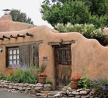 Old Santa Fe Cottage by Gordon  Beck