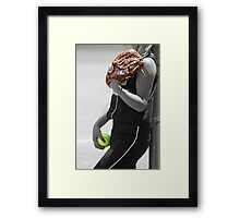 Contrast colors black and white Portrait  Framed Print