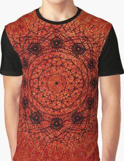 Grunge Style Geometric Mandala Graphic T-Shirt