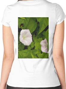 Sea Bindweed, Muckross Head, Donegal Women's Fitted Scoop T-Shirt