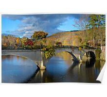 Bridge of Flowers in Shelburne Falls, Massachusetts. Poster