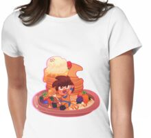 Saiyan Sized Breakfast Womens Fitted T-Shirt