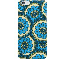 Blue doodle flower pattern.Hand drawn cute seamless background. iPhone Case/Skin