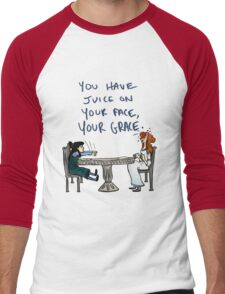 You Have Juice on Your Face Men's Baseball ¾ T-Shirt