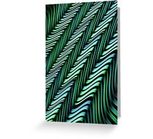 Green and Blue Folds Greeting Card
