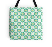 Blue doodle flower simple pattern.Hand drawn cute seamless background. Tote Bag