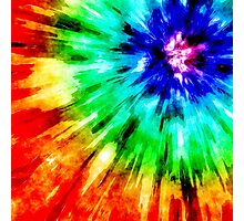 Tie Dye Meets Watercolor Photographic Print