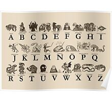 Sea Monster Alphabet Poster
