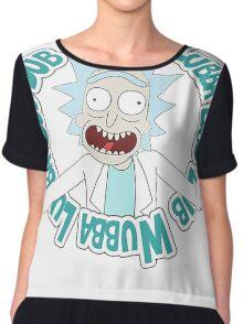 Rick and Morty T-shirt - Funny Wuaba shirt  Chiffon Top
