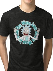 Rick and Morty T-shirt - Funny Wuaba shirt  Tri-blend T-Shirt