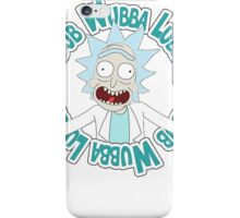 Rick and Morty T-shirt - Funny Wuaba shirt  iPhone Case/Skin