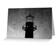 Cormorants Coming home to Roost Greeting Card
