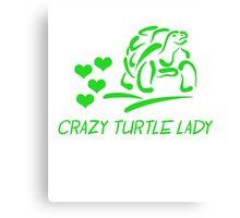 Crazy Turtle Lady Canvas Print