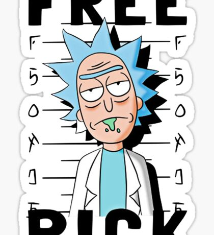 Rick and Morty T-shirt - Funny Free Rick  Sticker
